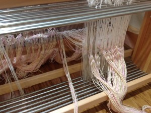 Loom with Homemade Heddles